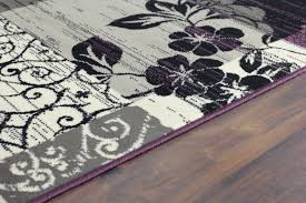 Purple And Black Area Rugs Brilliant Purple And Black Rugs Roselawnlutheran Regarding Gray