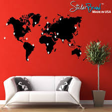 vinyl wall stickers amazon com stickerbrand vinyl wall art world map of earth with