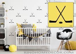 hockey cross sticks pattern vinyl wall decal pack 20 boy