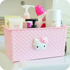 bathroom boxes baskets hello kitty bathroom organizer decor stationery hanging storage