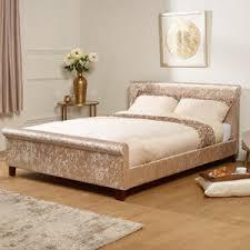 Suede Bed Frame Fabric Bed Frames Crushed Velvet More Bedstar