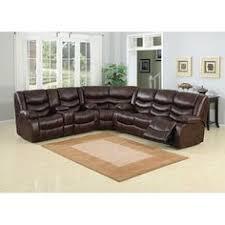 leather sectional sofa recliner samara family bonded leather reclining sectional sofa by ac