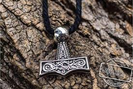 hammer pendant sterling silver mjolnir with beautiful ornament