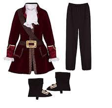 captain kangaroo halloween costume amazon com disney store captain hook pirate costume set size