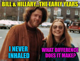 What Difference Does It Make Meme - hillary the early years i never inhaled what difference does