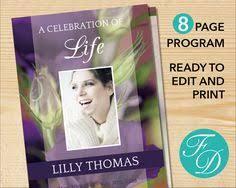 print funeral programs purple printable funeral program ready to edit print simply