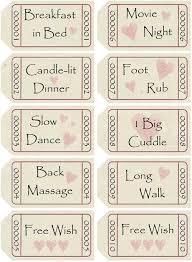 printable romantic gift certificates printable love coupons