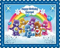care bears edible cake cupcake topper u2013 edible prints cake