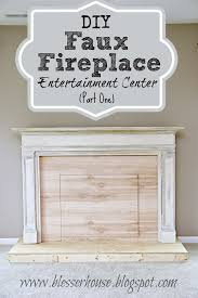 diy faux fireplace entertainment center part one bless u0027er house