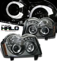 2005 jeep grand headlights jeep grand 2005 2007 black halo projector headlights with