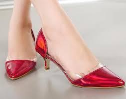 wedding shoes office kitten heel women pumps silver wedding shoes clear