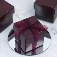 wedding shower party favors 2pcs favor boxes burgundy 100 count efavormart