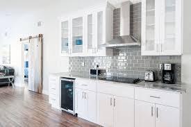 White Cabinets Kitchen Gray Subway Tile Backsplash With White Cabinets Nrtradiant Com