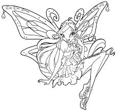 coloriage winx the darkness purple fadinha pinterest darkness