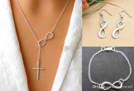 fashion infinity necklace images 2018 925 silver jewelry set fashion infinity necklace bracelet jpg