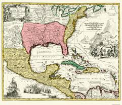 Old Mexico Map by Old Central America Map Map Of New Spain 1732