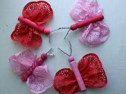 scrumdilly do valentine u0027s day doily butterflies
