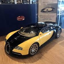 yellow bugatti autoart 1 18 bugatti veyron 2009 first edition rare yellow black