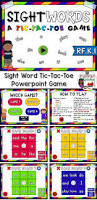 sight words tic tac toe game ela games student reading and tic