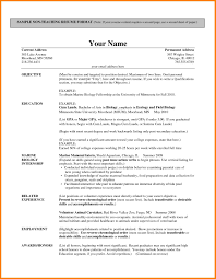 Sample Career Objective For Teachers Resume by Sample Resume For High Teacher India Augustais