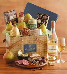 picnic gift basket picnic basket gift tin with wine specialty food wine gifts