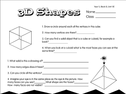 drawing 3d shapes worksheet free worksheets library download and