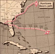 Jacksonville Map Remembering Hurricane Dora