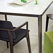 Dining Table Wood And Glass Contemporary Dining Table Glass Steel Rectangular Filo By