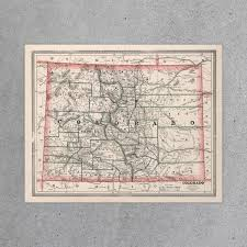 Colorado State Map by Colorado State Map 1883