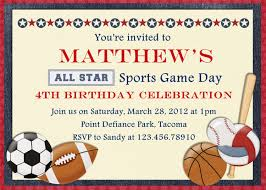 Birthday Invite Cards Free Printable Free Printable Sports Birthday Invitations Drevio Invitations Design