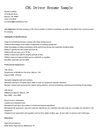 best ideas of commercial truck driver resume sample with template