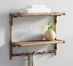 Wall Mount Bookcase Rattan Wall Mount Shelves Pottery Barn