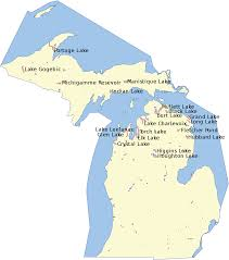 Lake Pleasant Map List Of Lakes Of Michigan Wikipedia