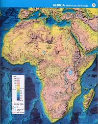 africa map physical africa physical map