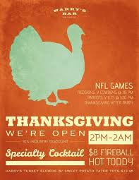 harry s bar thanksgiving flyer by chan studios