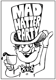 mad hatter hat coloring coloring