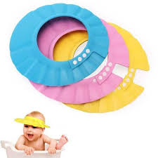baby shower cap soft baby kids children shoo bath shower cap adjustable baby