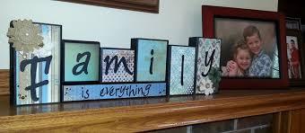 decor letter blocks family