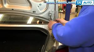 how to install replace fix sagging trunk lid support struts 2001