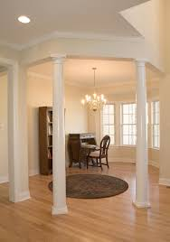 pillars decoration in homes trendy open concept dining room