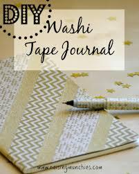 diy washi tape journal raising munchies