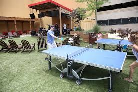 borgata u0027s beer garden outdoor pool welcome first crowds casinos
