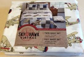 Airplane Bedding Twin Airplane Boys 4 Pc Twin Retro Quilt Set Bedding Skyhawk Vintage