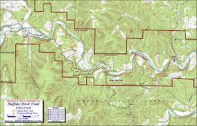 Map Buffalo Buffalo River Trail Western Section Free Detailed Topo Map