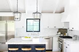 white l shaped kitchen with island white l shaped kitchen with blue island transitional kitchen