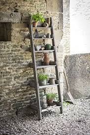 Leaning Shelves Woodworking Plans by Outdoor Ladder Shelves Repurposed Ladder Shelf Diy Shabby Chic
