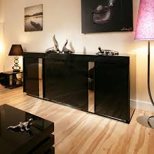 Small Black Gloss Sideboard Modern Black Gloss Sideboard Cabinet Buffet 2 0mtr 912m Quatropi