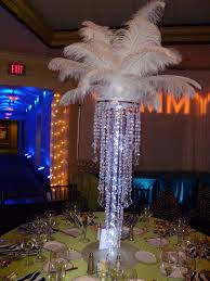 chandelier centerpieces chandelier centerpieces with feather tops and led lights f flickr