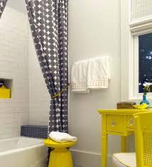 Gray Yellow Bathroom - yellow bathroom curtains home interior design ideas