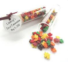fall wedding favors fall wedding favors maple leaf candy in glass vials
